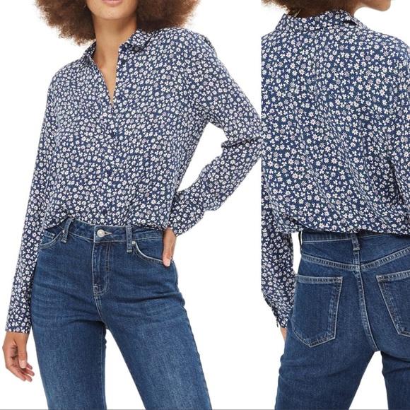 aa1b859e472d2b Topshop Tops | Ditsy Daisy Print Casual Shirt | Poshmark